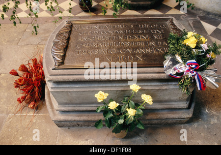 Luther tomb in Allerheiligen church-palace. Wittenberg. Saxony-Anhalt. Germany. - Stock Photo