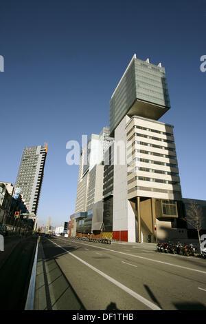Buildings in Diagonal Mar area, Barcelona. Catalonia, Spain - Stock Photo