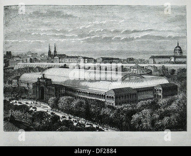 France, History, 19th Century, 1855 World Exhibit, at Paris - The Exposition Universelle of 1855 was an International - Stock Photo