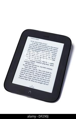studio nook e-reader on white - Stock Photo