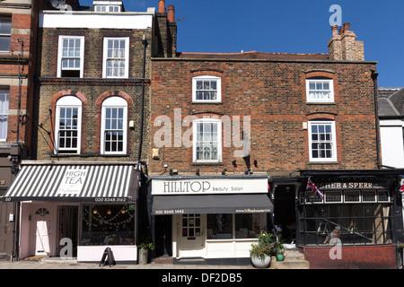 Highgate Village High Street - North London - Stock Photo