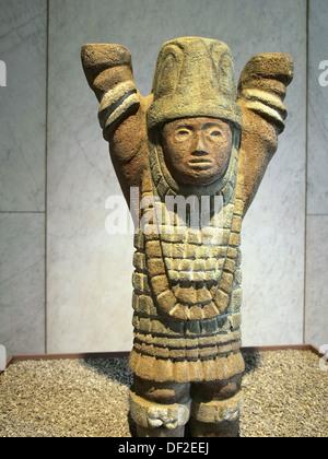 Atlante Tolteca. Museo Nacional de Antropologia. Ciudad de Mexico - Stock Photo