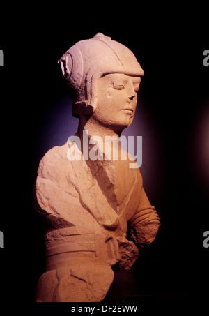 Iberian bust. Jaen Museum. Jaen. Spain - Stock Photo