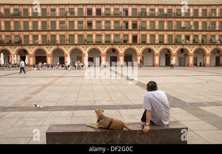 ´Plaza de la Corredera´ at Córdoba. Andalucia. Spain. - Stock Photo