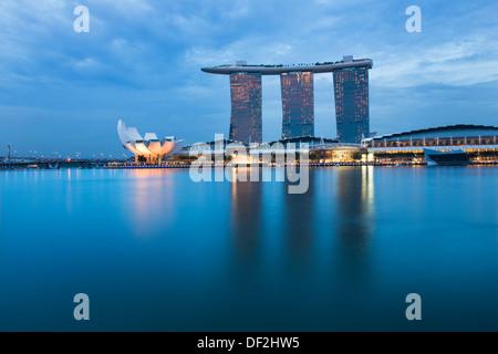 The beautiful Marina Bay Sands casino & resort in Singapore. - Stock Photo