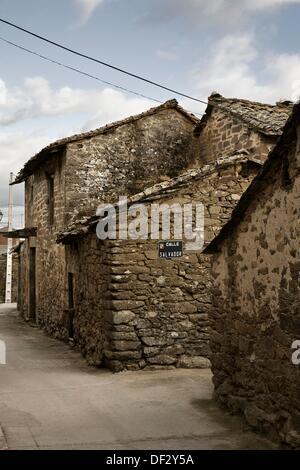 Villardeciervos  Sierra de la Culebra  Zamora province  Castile-Leon  Spain - Stock Photo
