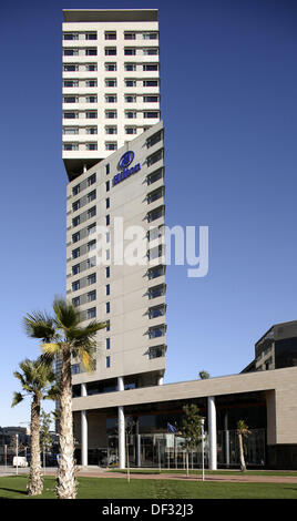 Hotel Hilton in Diagonal Mar area, Barcelona. Catalonia, Spain - Stock Photo