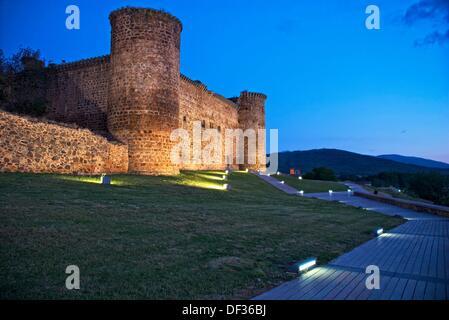 Valdecorneja Castle 14th Century  El Barco de Avila  Avila province  Castilla y Leon  Spain - Stock Photo