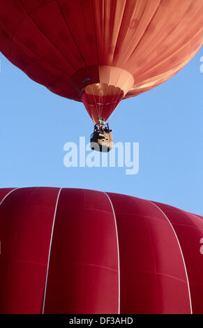 Hot air balloons, Netherlands - Stock Photo