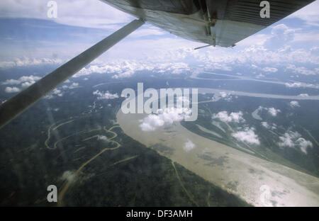 Amazon river. Near Tamishiyaco, Loreto, Peru - Stock Photo
