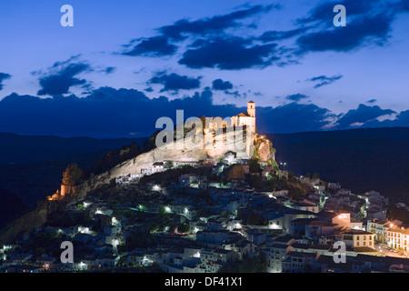 Montefrio at dusk, Andalucia, Spain - Stock Photo
