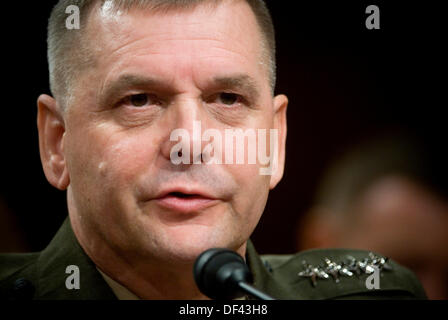 Commander, United States Strategic Command, U.S. Marine General James E. Cartwright, testifies during his confirmation - Stock Photo