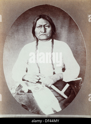 Sitting Bull (1831-1890), Chief of the Hunkpapa Band of the Lakota Sioux, Portrait, 1882 - Stock Photo
