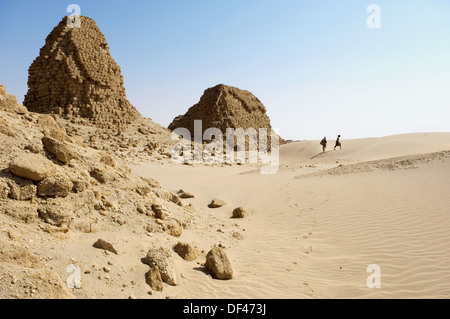 Pyramids of Nuri. Kingdom of Meroe. Sudan. Africa. - Stock Photo