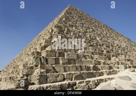 Great Pyramid built by Khufu  (Cheops). Giza pyramid complex. Egypt./ Giza pyramid complex. The pyramids are dedicated - Stock Photo