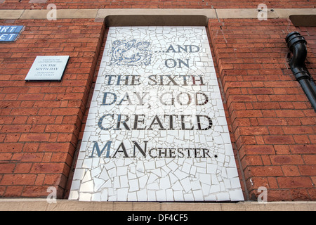 And on the Sixth day God created MANchester - Stock Photo