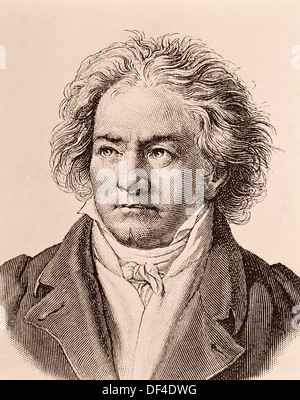 Ludwig van Beethoven (1770-1827), German composer - Stock Photo