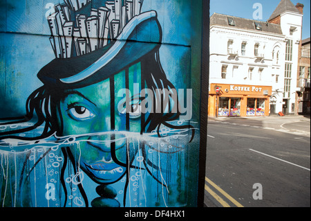 SLM Art. Northern Quarter. Manchester. - Stock Photo