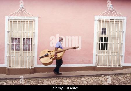 Musician.Trinidad, Cuba. - Stock Photo