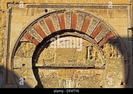 Arab arches, Doorway, Mezquita, Cordoba, Andalucia, Spain. - Stock Photo