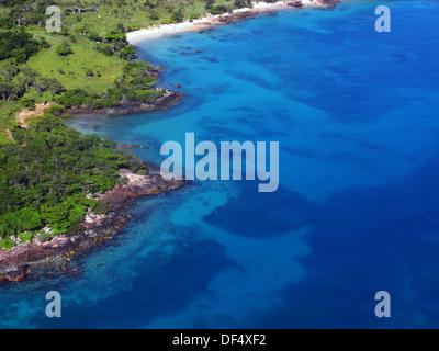 Remote western coast of Badu Island, Torres Strait, Queensland, Australia - Stock Photo