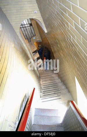 Stairs acces to St. Peter´s Basilica dome. Vatican City. Rome. Italy - Stock Photo