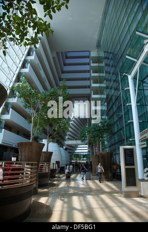 Interior the marina bay sands hotel stock photo royalty for Tallest hotel in singapore
