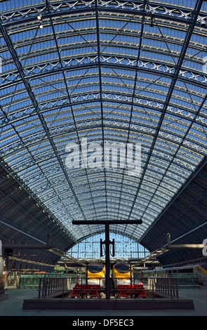 St Pancras International railway station London United Kingdom - Stock Photo