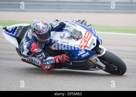 Teruel, Spain. 28th Sep, 2013. Spanish rider, Marc Marquez, makes one Stock Photo: 60967889 - Alamy