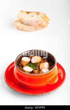 lentil soup - Stock Photo