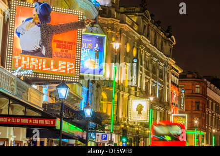 Lyric Theatre Shaftesbury Avenue London England in evening light - Stock Photo