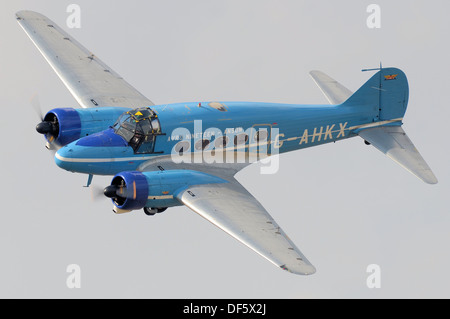 The Avro Anson is a British twin-engine, multi-role aircraft that served with the Royal Air Force, Fleet Air Arm, - Stock Photo