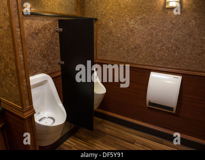 Luxury portable toilets or more commonly known as porta potties and porta loos. - Stock Photo