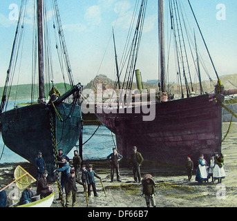 Hugh Town Isles of Scilly Victorian period - Stock Photo
