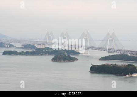 The Great Seto Bridge (Seto Ohashi) in Japan. - Stock Photo