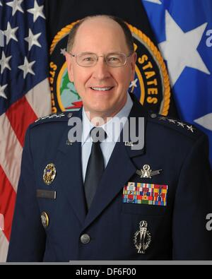United States Air Force General C. Robert 'Bob' Kehler is Commander, U.S. Strategic Command, Offutt Air Force Base, - Stock Photo