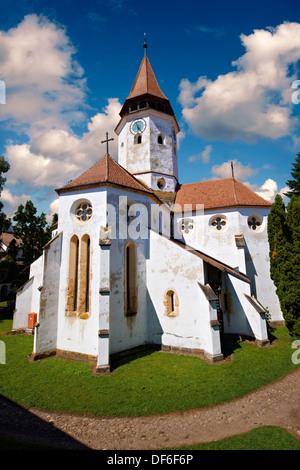Prejmer ( German: Tartlau) Fortified Church, Brasov, Transylvania. UNESCO World Heritage Site - Stock Photo
