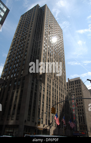 Radio City Music Hall in the Rockefeller Center.  New York, New York. USA. - Stock Photo