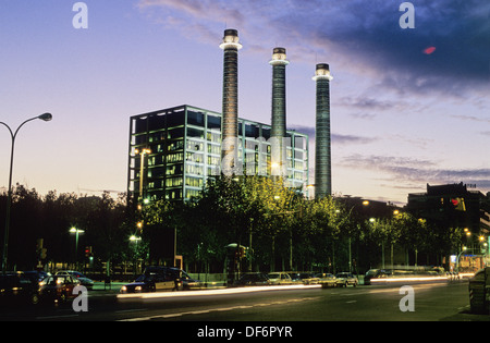 Catalonia  Spain  middot    Les Tres Xemeneies   former industrial complex dating from   th century now FECSA ENDESA