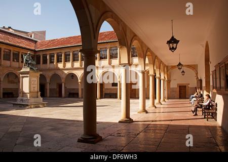 Historical university building, Oviedo, Asturias, Spain. - Stock Photo