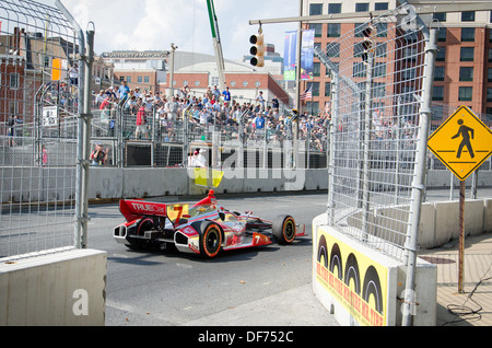 Track side at the Baltimore Grand Prix - Stock Photo