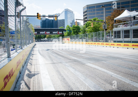 On the track at the Baltimore Grand Prix - Stock Photo