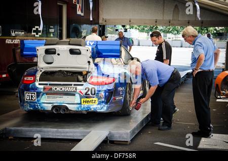 Porsche 911 GT3 Car undergoing testing after the Baltimore Grand Prix - Stock Photo