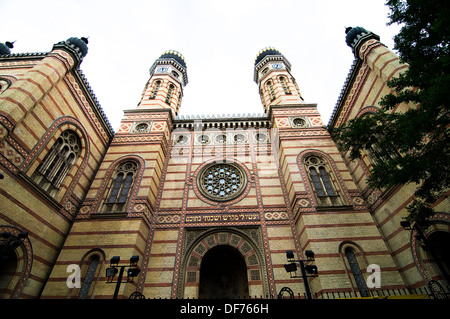 The beautiful old synagogue in Budapest. - Stock Photo