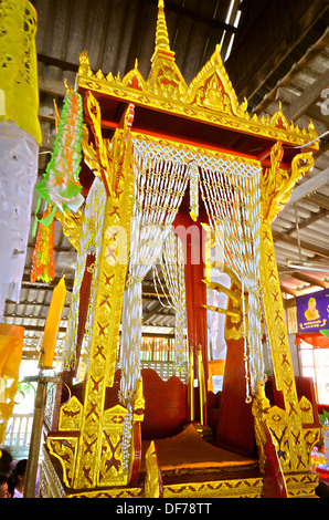 The Pulpit for Thai Monk to Give a sermon on the revision of the Buddhist scripture to Buddhist in Buddhist Holy - Stock Photo