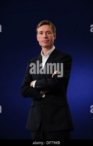 James Davies, Author, psychotherapist and anthropologist, attending the Edinburgh International Book Festival 2013. - Stock Photo