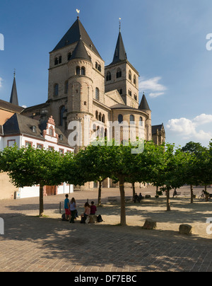 The Trier Cathedral and the Gothic Church of Our Lady, UNESCO World Heritage Site, Trier, Rhineland-Palatinate, - Stock Photo