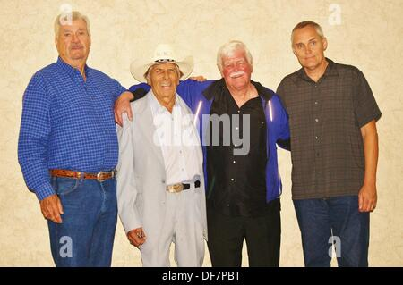 Sept. 27, 2013 - Austin, Texas, U.S. - Left to right: Chuck Bail, John ''Bud'' Cardos,  Gary Kent, and  Bob Ivy - Stock Photo