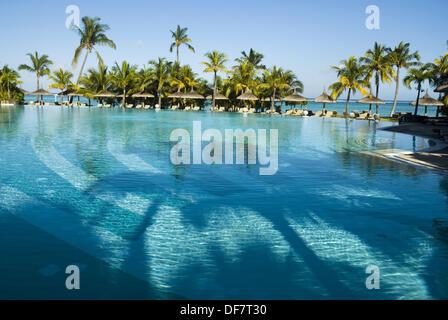 Hotel Dinarobin in Le Morne, Mauritius - Stock Photo