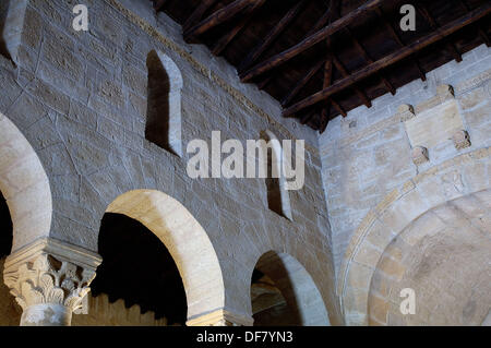 san juan de baos visigothic church palencia spain stock photo